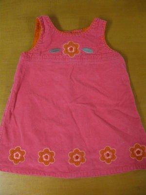 Boutique PUMPKIN PATCH Pink Corduroy Dress Sz 1 18-24