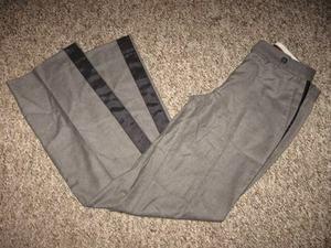 Womens Gray MICHAEL KORS Side Stripe Dress Pants 4