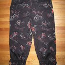 "Stretchy CHICO'S ""Graffiti"" Cropped Capri Pants Size 1"
