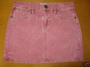 TOMMY HILFIGER Pink Corduroy Distressed Skirt 3