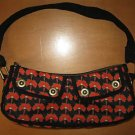GAP Black Red POPPY Purse Handbag Tote Bag EUC