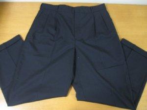 MENS 100% WOOL LANDS END DRESS PANTS SIZE 34 PERFECT!!!