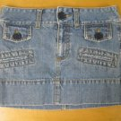 AMERICAN EAGLE Flap Pocket Mini Skirt Denim Jean 2