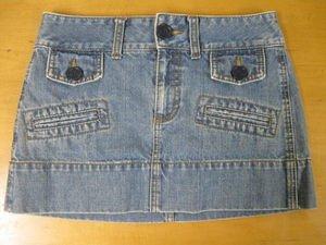 AMERICAN EAGLE Flap Pocket Mini Skirt Denim Jean 2