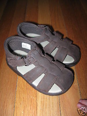 Infant Toddler Leather Brown BABY SMART Sandals Shoes 5