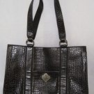 HUGE Dark Brown COLDWATER CREEK Bag Purse Handbag LK NW