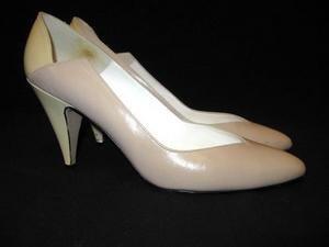 Vintage 2-Tone Leather LIZ CLAIBORNE Pumps Shoes 8 1/2