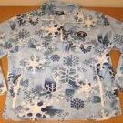 NEW Fleece Snowflake GRANDMA PANTS Jacket Pullover S