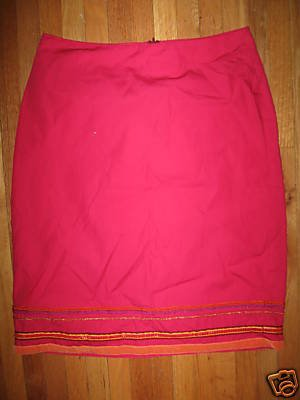 GUESS JEANS Pink Ribbon & Sequin Trimmed Skirt 27 Waist