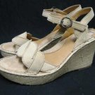 Woman BOC by BORN Straw Wedge Nubuck Sandals 9 M/W