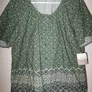 NEW NWT LIZ CLAIBORNE $59 Floral Blouse Shirt Top Sz 16