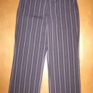 Black/Purple Pinstripe THE LIMITED Cassidy Capri Pant 4