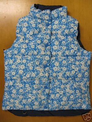 Womens AE AMERICAN EAGLE Blue REVERSABLE Winter Vest S