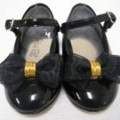 Black STRIDE RITE Bow Mary Jane Shoes 5 1/2 W EUC