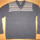 Mens BANANA REPUBLIC Dark Gray Lambswool Sweater M