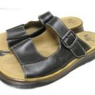 Mens Doc DR MARTENS Black Leather Sandals Slides Shoes