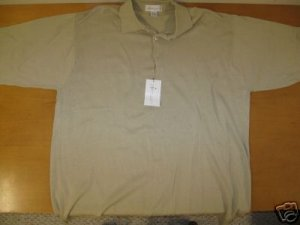 NWT Mens IL MIGLIORE Khaki Soft Dress Polo Shirt 2XL