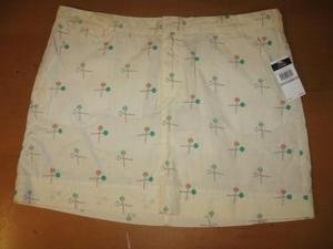 NWT NEW LE TIGRE $58 Lollipop Pale Yellow Skirt 12