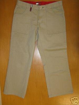 Womens Juniors TOMMY HILFIGER Khaki Capri Pants 5 EUC