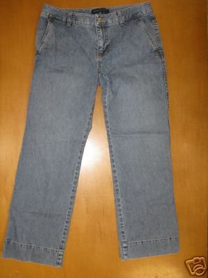 Womens BANANA REPUBLIC Capri Button Pocket Jeans 0
