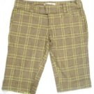 JUNIORS PLAID BILLABONG PAC SUN BERMUDA SHORTS SIZE 7