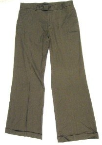WOMANS GAP BROWN LINEN DRESS PANTS SLACKS 8 REG EUC!!!