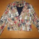 LARRY LEVINE Plaid Patchwork Blazer Jacket Coat 8 Cute!