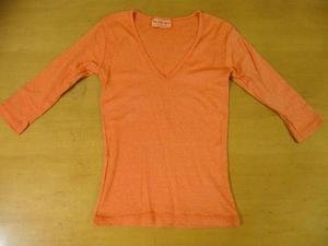 Orange MICHAEL STARS V-Neck SHINE Shirt Top One Size
