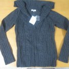 NWT SO WOOL JUNIORS V-NECK SWEATER LARGE LG CUTE!!!!!