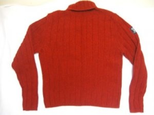 RED WOOL ABERCROMBIE & FITCH KNIT CHRISTMAS SWEATER M