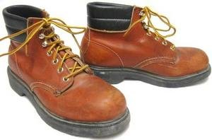 Mens Steel Toed RED WING Work Boots 5 1/2 D (Womens 7)