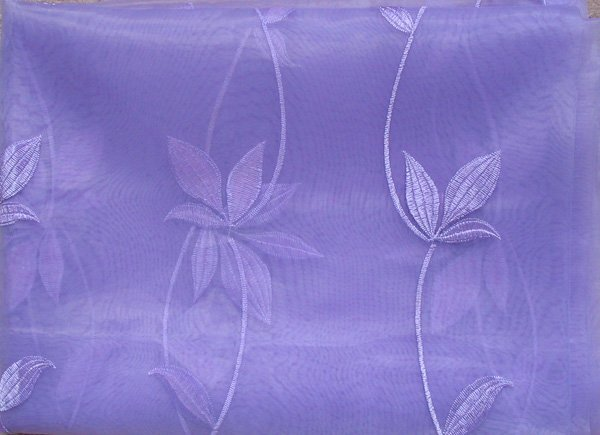 Scroll-embroidered Sheer Panels, light purple