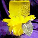 Yellow Rose Flower Candle Centerpiece Gift
