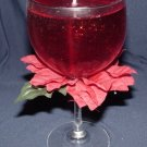 Silk Poinsetta Gel Candle Centerpiece Novelty Christmas Gift