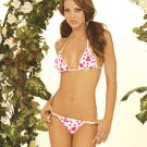 Heart Print Cotton Bra and G-String Set One Size Fits All