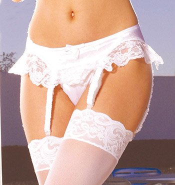 Satin Garterbelt Various Colors One Size Fits All