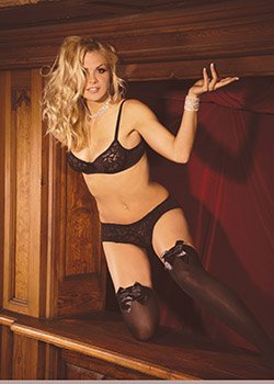 Opaque Thigh Hi with Satin Bow Various Colors Queen Size