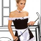 4 Piece Maid Costume Black Sizes S-L