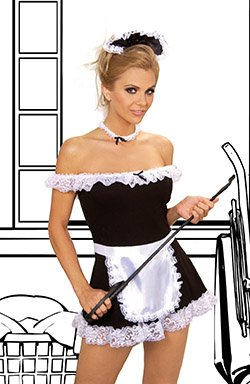 4 Piece Maid Costume Black Sizes 1X-4X