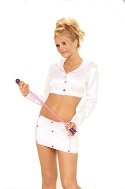 Baton Twirler 3 Piece Costume White Sizes S-L