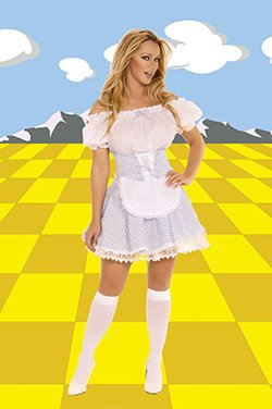 Dorothy 3 Piece Costume White/Blue Sizes S-XL