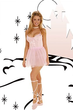 Ballerina 3 Piece Costume Pink Sizes S-L
