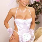 Bridal 4 Piece Costume White One Size Fits All