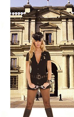 Officer Arrest Me 3 Piece Costume Black Sizes S-L