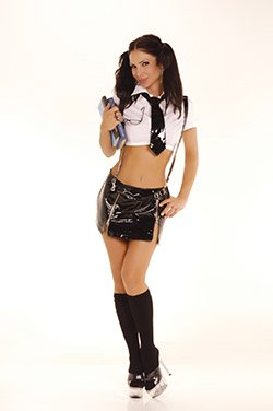 Reform School Girl 3 Piece Costume Black Sizes S-L