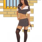 Gangster Girl Costume Black/White One Size Fits All