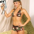 Camouflage Combat 2 Piece Costume Sizes S-L