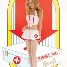 Flirty Nurse 3 Piece Vinyl Costume White Sizes S-L