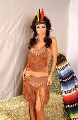 3 Piece Indian Costume Brown Sizes S-L