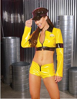 Taxi Driver 3 Piece Costume Yellow Sizes S-L